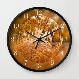 Miscanthus ornamental grass grow Wall Clock