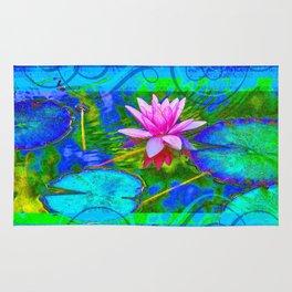 Lotus Blossom Blues Rug