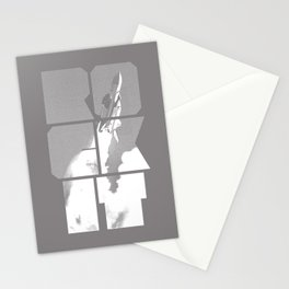 ROCKIT (White on Grey) Stationery Cards