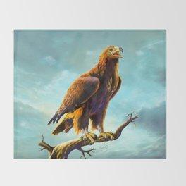 Golden Eagle Throw Blanket