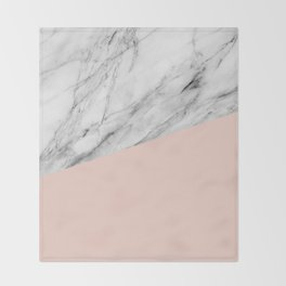 Marble and Pale Dogwood Color Throw Blanket
