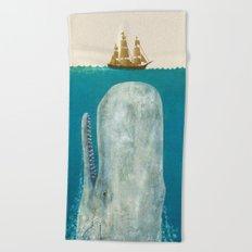 The Whale - colour option Beach Towel