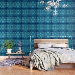 Blue Art Deco Wallpaper