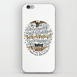 small government, larger freedom iPhone Skin