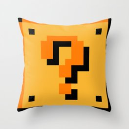 ?Question Mark block- Super Mario Bros. Throw Pillow