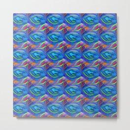 Colorful  blue scales Metal Print
