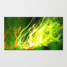 Shaking the Lights Canvas Print