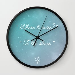 TO THE STARS Wall Clock
