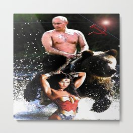 In Chains (WW with VP, Bear, Stream, Hammer and Sickle) Metal Print