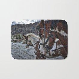Horses, Anza Borrego, California Bath Mat