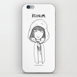 Redrum 01 Raina iPhone Skin