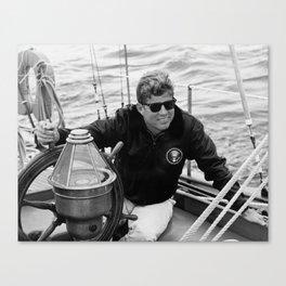 President John Kennedy Sailing Canvas Print