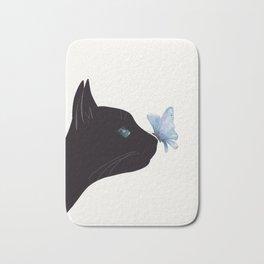 Cat and Butterfly Bath Mat