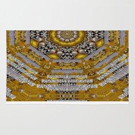 Mandala pattern with metal Rug