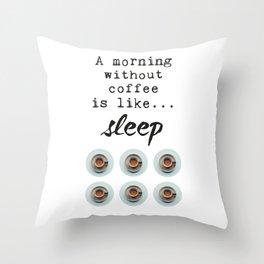 coffee addicted Throw Pillow
