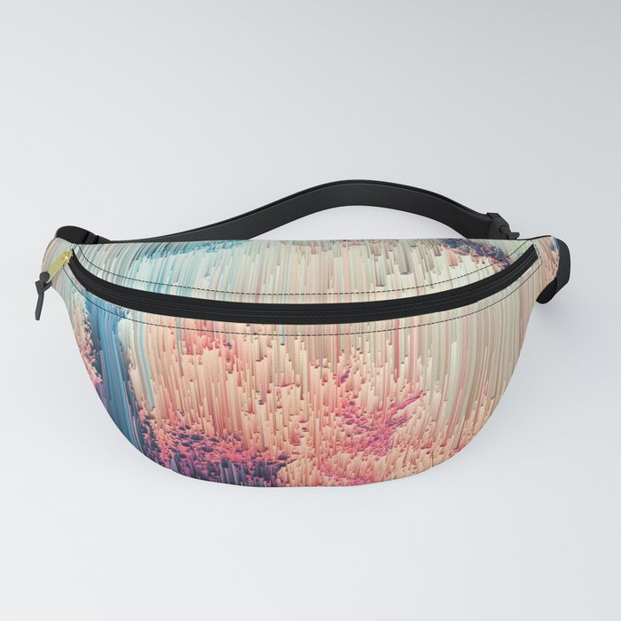 Fairyland - Abstract Glitchy Pixel Art Fanny Pack