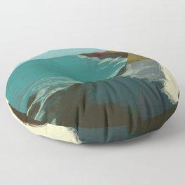 The Coast of California Floor Pillow