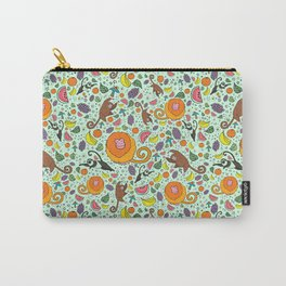 Cute Monkeys and Fruit Carry-All Pouch
