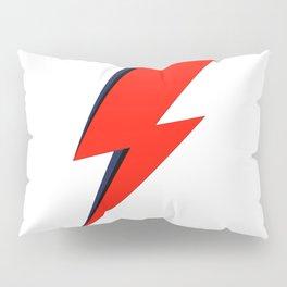 Red Bowie David Lightning Bolt Pillow Sham