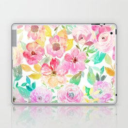 Classy watercolor hand paint floral design Laptop & iPad Skin
