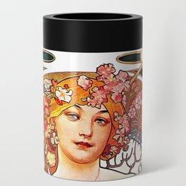 Alphonse Mucha Daydream Floral Vintage Art Nouveau Can Cooler