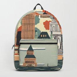 UK london art new love tower watch illustration iphone pillow 2018 trend popular sticker Backpack