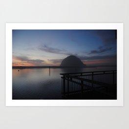 Morro Bay sunset Art Print