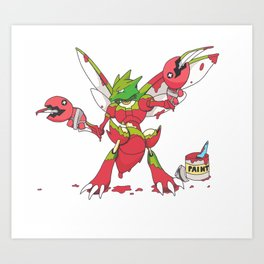Scyther trying to be Scizor Art Print