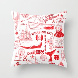 New Bedford Massachusetts Print Throw Pillow