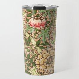 Antique Flower Wallpaper (Tapete) Design Travel Mug