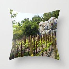 Golden Vine Winery Throw Pillow