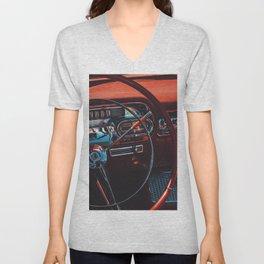 Vintage car Unisex V-Neck