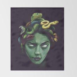 Dark Medusa Throw Blanket