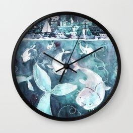 seals and ships Wall Clock
