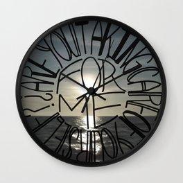 Taking Care Wall Clock