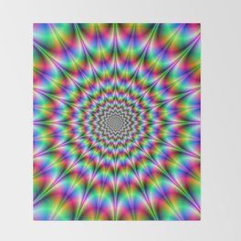 Psychedelic Explosion Throw Blanket