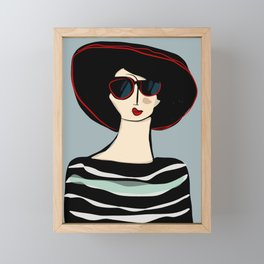 Mademoiselle Framed Mini Art Print