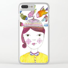 Fishy Business Clear iPhone Case