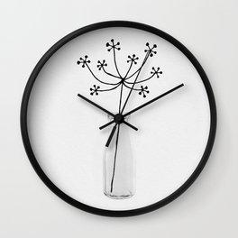 Flower Still Life I Wall Clock