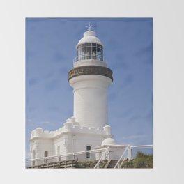 Byron Bay Lighthouse blue Sky Throw Blanket