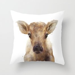 Little Reindeer Throw Pillow