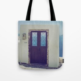 Santorini Door V Tote Bag