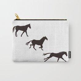 a horse runs Carry-All Pouch