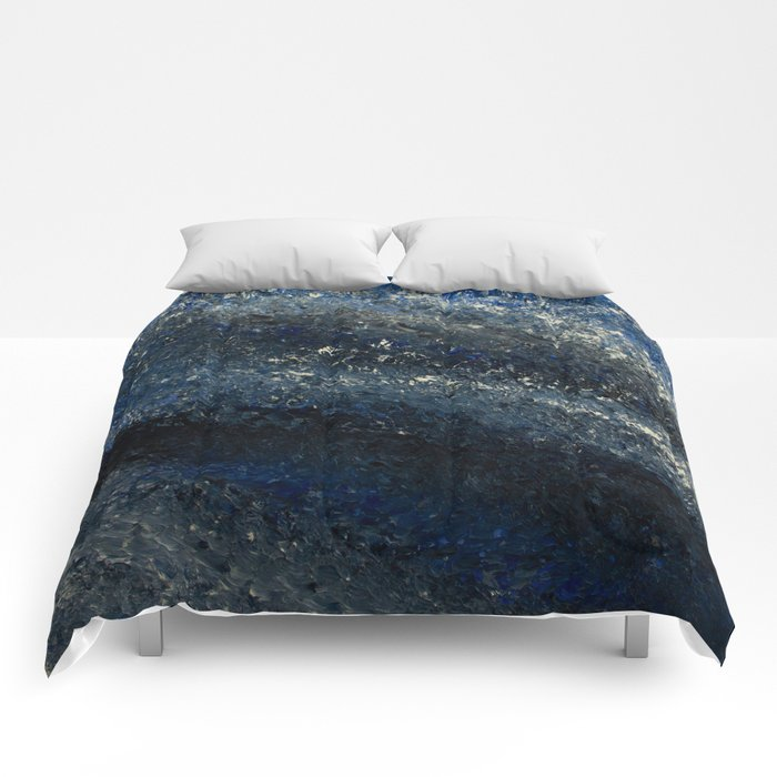 Storm Clouds Break Abstract Painting  Comforters