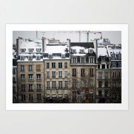 la rue Art Print