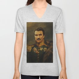 Tom Selleck - replaceface Unisex V-Neck