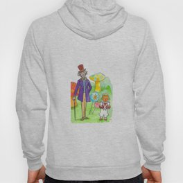 Pure Imagination: Willy Wonka & Oompa Loompa by Michael Richey White Hoody