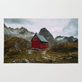The Mint Hut in Hatcher Pass, Alaska Rug