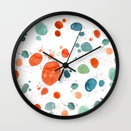 ramdom watercolor Wall Clock