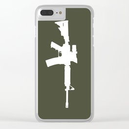 M4 Assault Rifle Clear iPhone Case